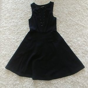 Express skater dress with gold hardware